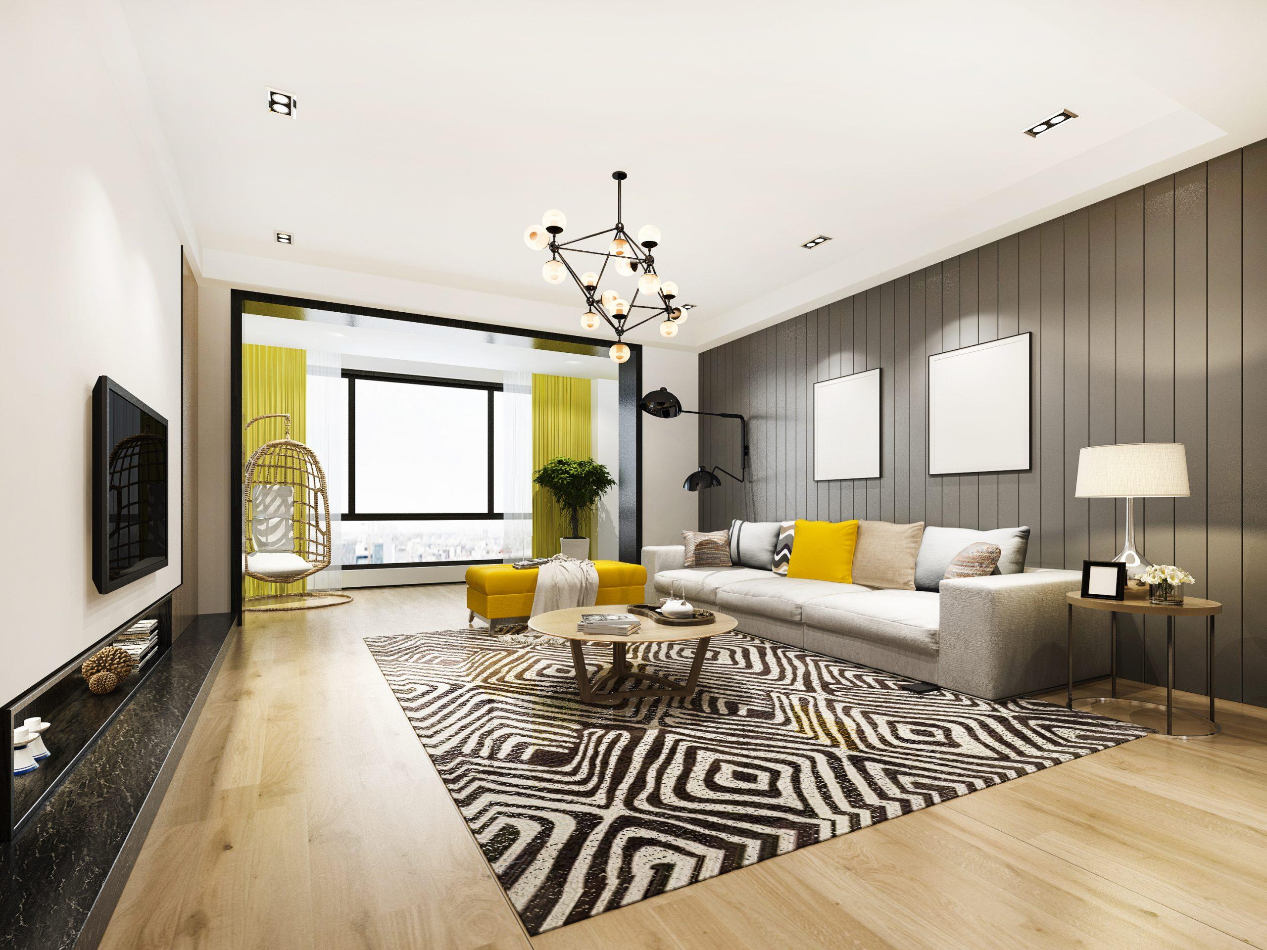 Faux-plafond avec éclairage intégré